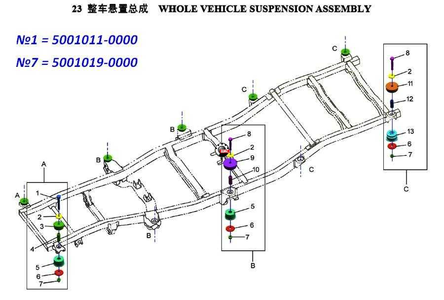 Zhongxing Landmark (Лендмарк) Болт подушки кузова 5001011-0000