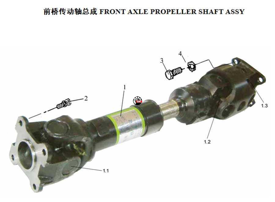 Zhongxing Admiral (Адмирал) Вал карданный передний 4WD BQ2203010-60A0