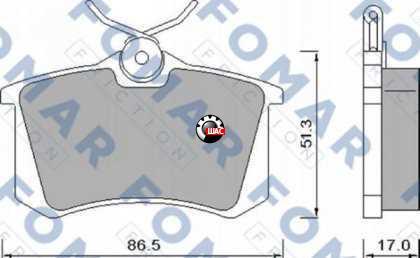 FAW B30 (ФАВ Б30) Колодки тормозные задние Fomar 035010016